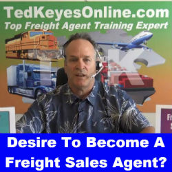 Desire To Become A Freight Sales Agent?