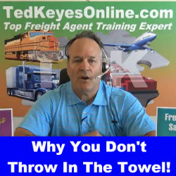 Why You Don't Throw In The Towel!