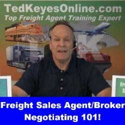 Freight Sales Agent/Broker Negotiating 101!