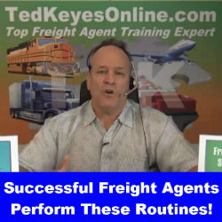 Successful Freight Agents Perform These Routines